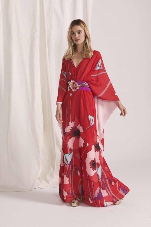 Vestido MASS MATILDE CANO Kimono Largo Estampado L607