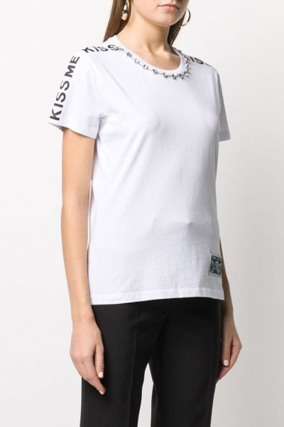 Camiseta PINKO Blanca Kiss Me 1G14WQ Y5BD