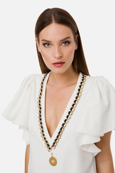 Vestido ELISABETTA FRANCHI Aplicación Cadena AB14701E2