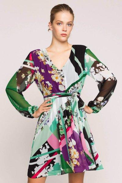 Vestido TWINSET De Georgette Estampado 201MP2362