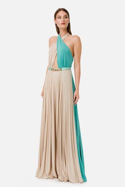 Vestido ELISABETTA FRANCHI Largo Combinado AB16201E2
