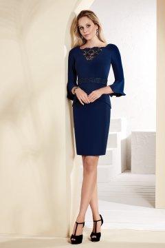 Vestido NATI JIMENEZ Azul Marino 210