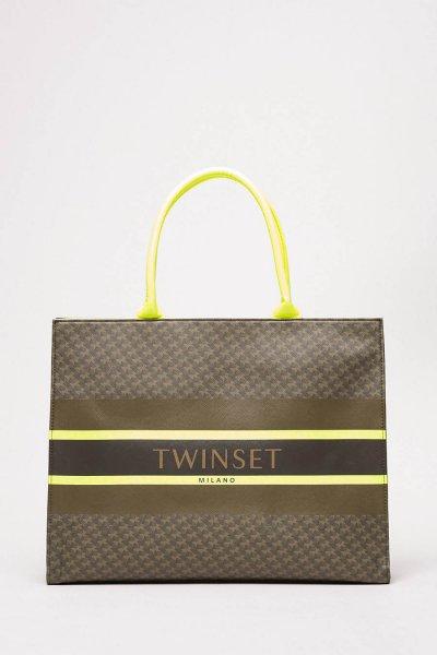Bolso TWINSET Shopper Con Estampado De Mariposas 201TA7240