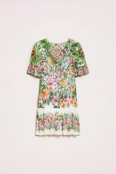 Vestido TWINSET Con Estampado De Flores 201TT2482