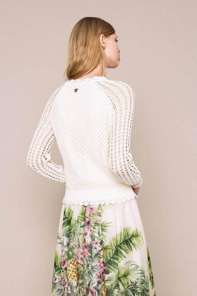Bómber TWINSET De Punto De Rejilla Con Detalles De Crochet 201TT3083
