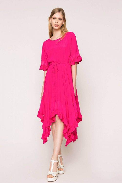 Vestido TWINSET De Crepé De China De Seda Mixta 201TT2343