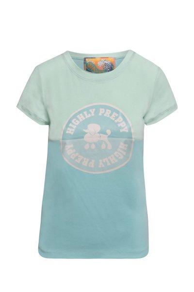 Camiseta HIGHLY PREPPY Circulo Poodle Vintage Menta 9723
