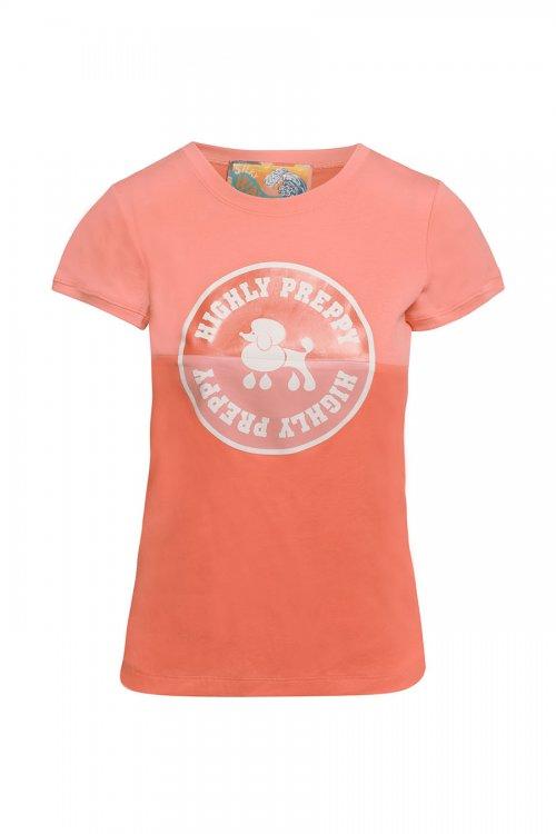 Camiseta HIGHLY PREPPY Circulo Poodle Vintage Salmón 9723