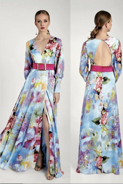 Vestido MARIA LAGO Largo Estampado NEON 1409