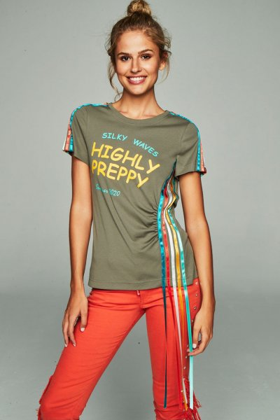 Camiseta HIGHLY PREPPY Cintas Verde Caqui 9730