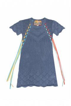 Vestido HIGHLY PREPPY Calado Azul 5118
