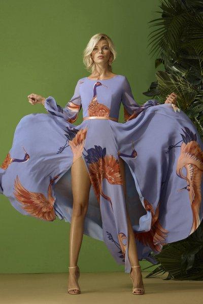 Vestido CARLA RUIZ Largo Estampado 96705