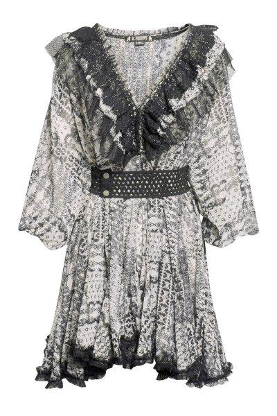 Vestido HIGHLY PREPPY Bambula Lurex Estampado 7784