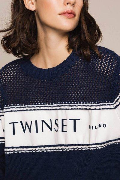 Jersey TWINSET Con Aplicación De Felpa Y Logotipo 201TP3201