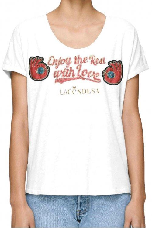 Camiseta LA CONDESA Enjoy Blanca