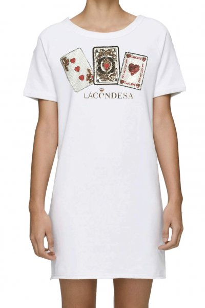 Vestido LA CONDESA Poker Blanco
