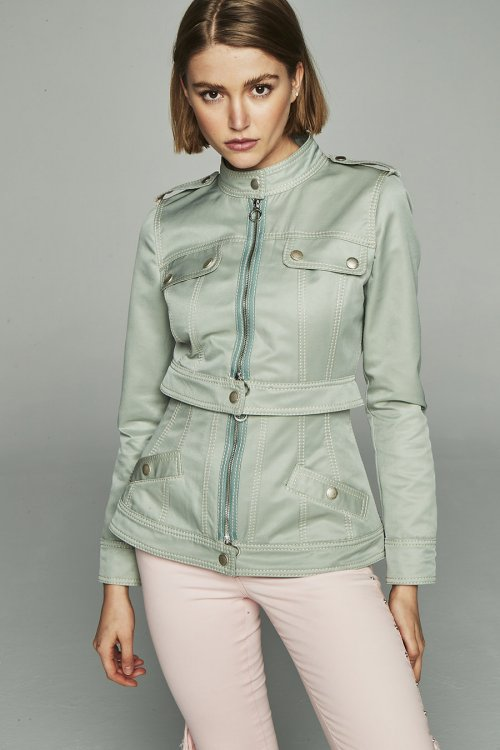 Chaqueta HIGHLY PREPPY Gabardina Verde 2314