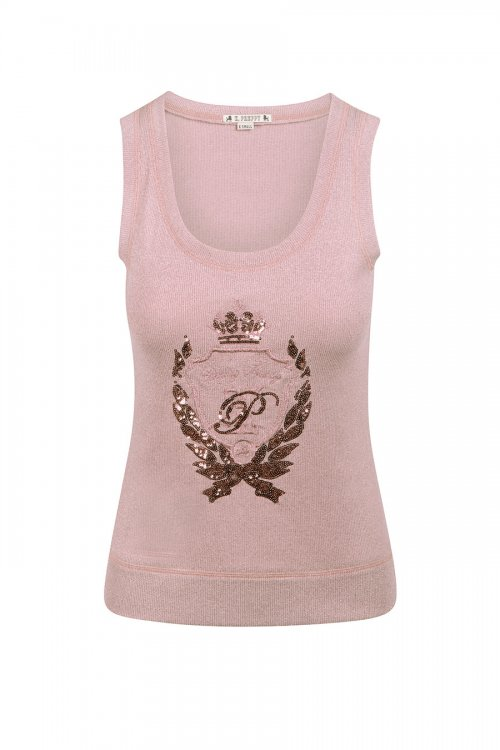 Camiseta HIGHLY PREPPY Lurex Rosa 9727