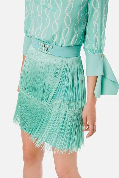 Vestido ELISABETTA FRANCHI Con Flecos AB14401E2
