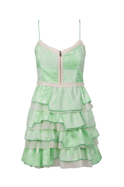Vestido HIGHLY PREPPY Paisley Volantes Verde 7745