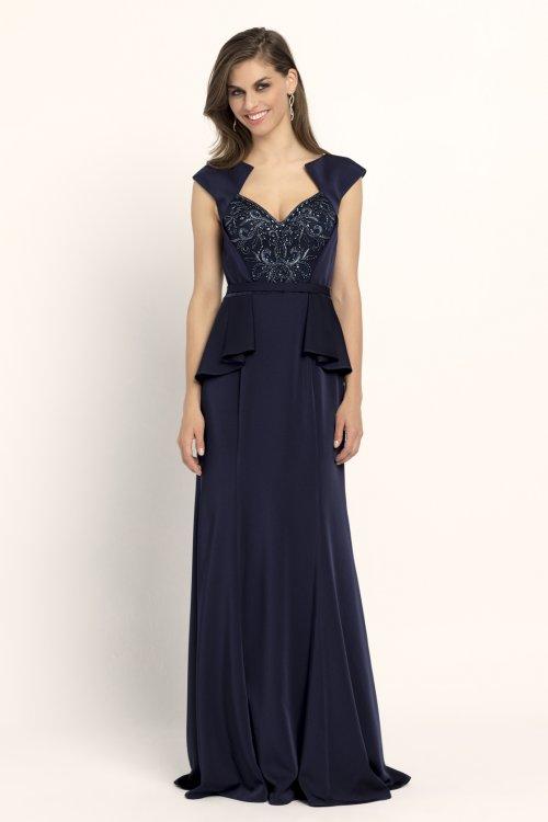 Vestido EVASSE Largo Azul Marino 61020129