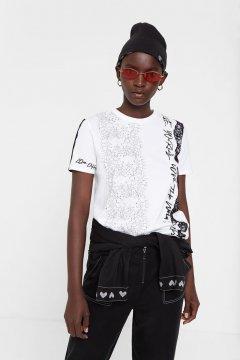 Camiseta DESIGUAL Kendall Romántica Con Mensajes 20SWTK041000