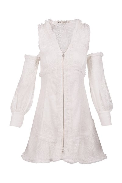 Vestido HIGHLY PREPPY Bambula Bordado Blanco 7768
