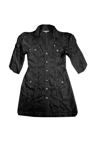 Vestido HIGHLY PREPPY Bordado Negro 7747