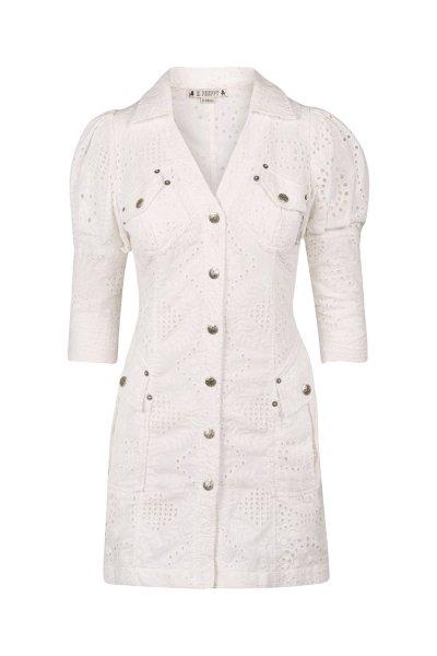 Vestido HIGHLY PREPPY Bordado Blanco 7747