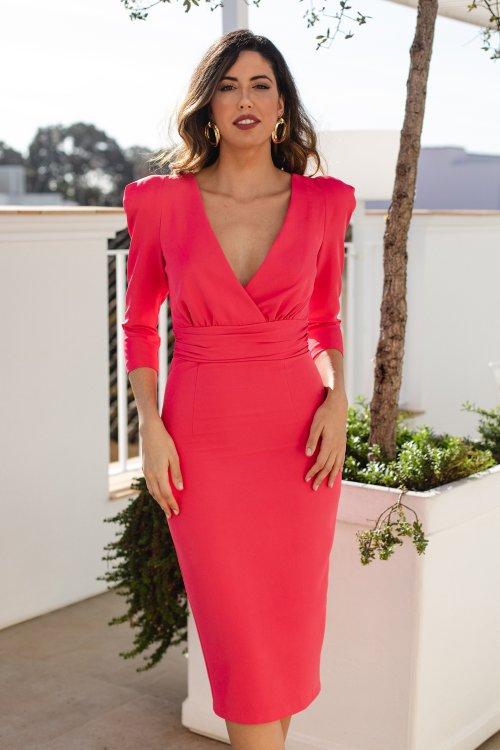 Vestido BLANCA MARTIN Corto Fresa ISABELLA T1027