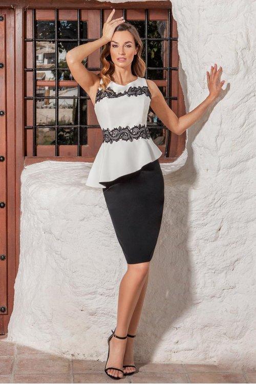 Vestido CASTING Corto Peplum 1022.7