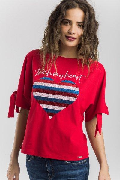 Camiseta ALBA CONDE Roja Corazón 1800-216-55