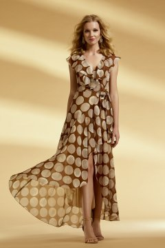 Vestido ARGGIDO Cruzado De Lunares 43582