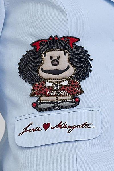 Chaqueta MANGATA Pique Azul Mafalda 2001-0220-021