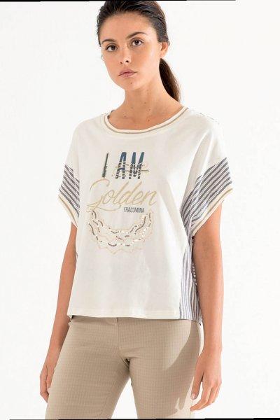 Camiseta FRACOMINA Golden Estampado FR20SM030