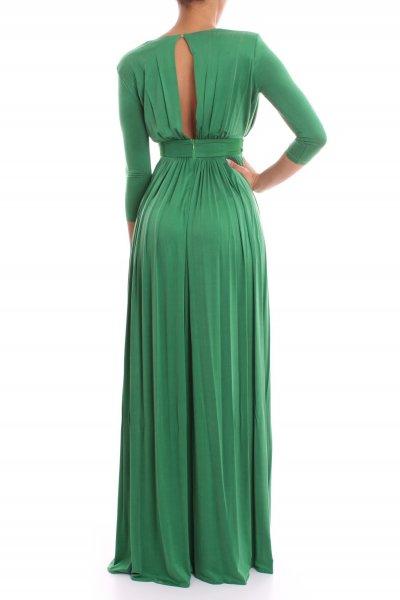 Vestido ELISABETTA FRANCHI Largo Verde Detalle Joya AB01702E2