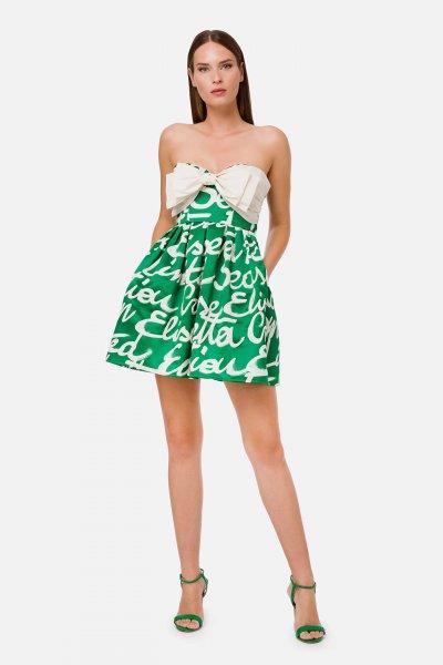 Vestido ELISABETTA FRANCHI Lazo Letras AB24702E2