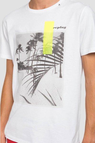Camiseta REPLAY Con Estampado De La Playa M3010 2660