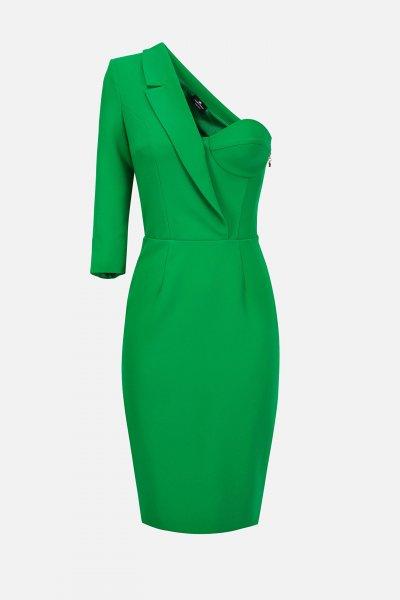 Vestido ELISABETTA FRANCHI Corto Asimétrico AB05003E2
