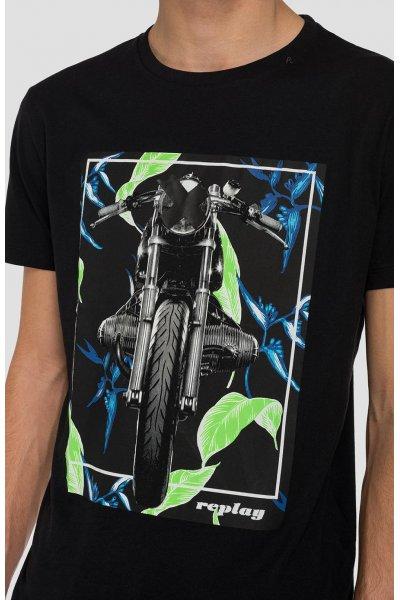 Camiseta REPLAY Con Estampado De Moto M3011 2660
