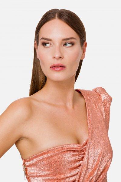 Vestido ELISABETTA FRANCHI Corto Lúrex Hombro Descubierto AB00402E2