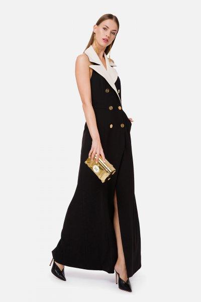 Vestido ELISABETTA FRANCHI Largo Doble Abotonadura AB03702E2