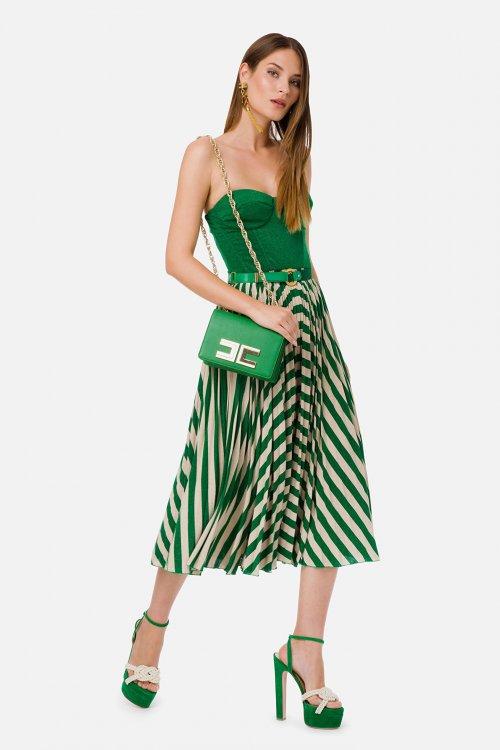 Vestido ELISABETTA FRANCHI Sin Mangas Con Cinturón AB18001E2