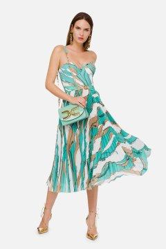 Vestido ELISABETTA FRANCHI Estampado Falda Plisada AB01302E2