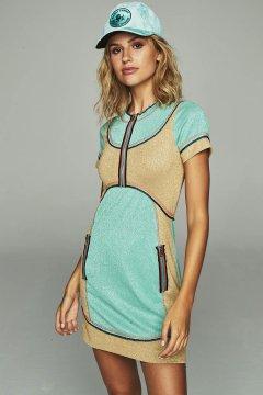 Vestido HIGHLY PREPPY Punto Lurex Verde 7752