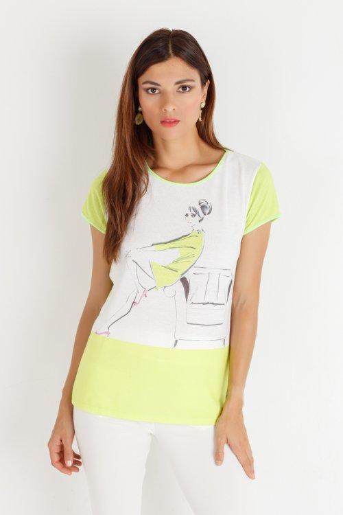 Camiseta YHOCOS Estampado Mujer P20502
