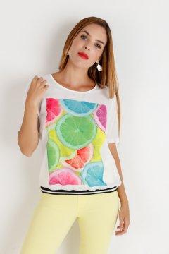 Camiseta YHOCOS Estampado Cítricos P20808