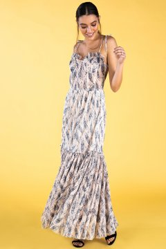 Vestido GUTS & LOVE Feathers V-20-0-028