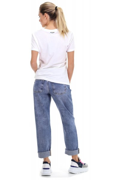 Camiseta TWINSET Larga Maxilogo Lentejuelas 201MT2290