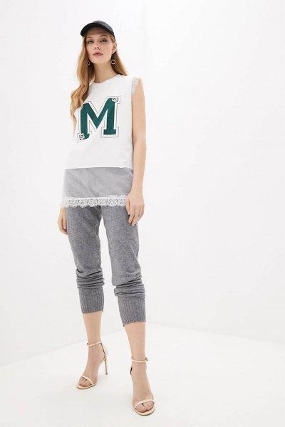 Camiseta TWINSET Larga Combinada Sin Mangas 201MP235A